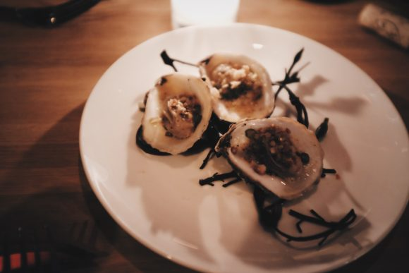 wood roasted oysters