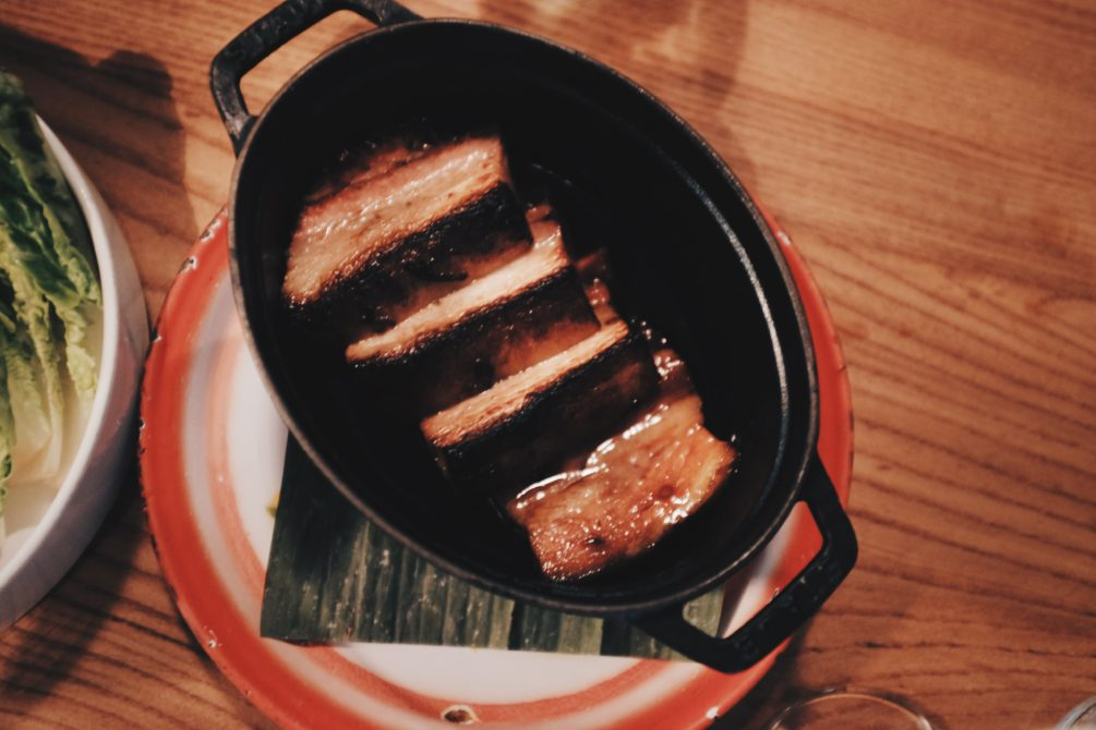 caramelized pork belly