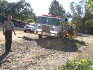 Ranger Dave Gray 500 300x227 - Fire in Belgatos Park near Bacigalupi and Westhill Drives, believed started by 3 kids, contained within an hour by fire department