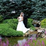 Mr. and Mrs. Tony and Alecia Kihl at the Waterfall