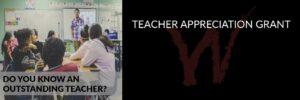 Teacher Appreciation Grant
