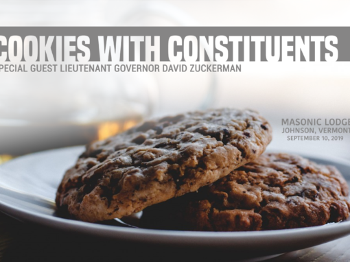 Cookies with Constituents with Lieutenant Governor David Zuckerman
