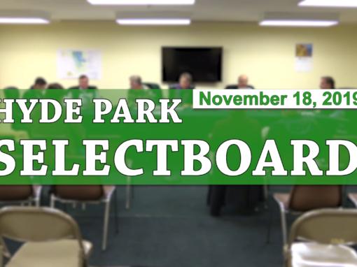 Hyde Park Selectboard, 11/18/19