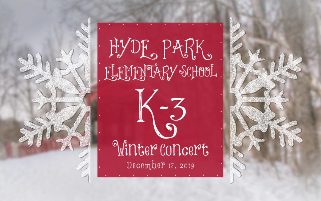 Hyde Park Elementary School Winter Concert, 2019