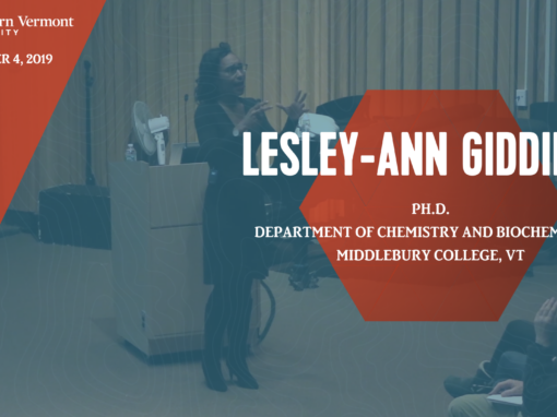 Current Topics in Science Series – Lesley-Ann Giddings, Ph.D.