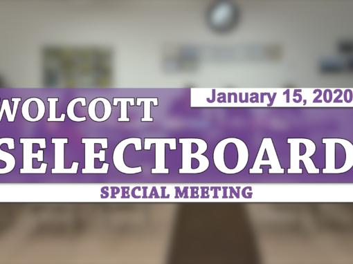 Wolcott Selectboard, 1/15/20