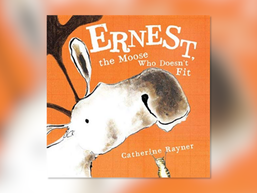 """Grannie Snow reads, """"Ernest the Moose Who Doesn't Fit"""""""