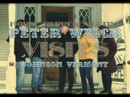 Representative Peter Welch Visits Johnson, VT
