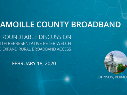 Lamoille County broadband roundtable discussion with Rep. Peter Welch