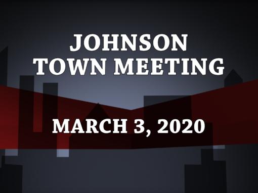 Johnson Town Meeting, 2020