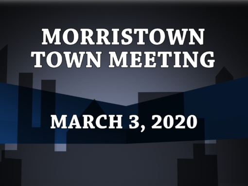 Morristown Town Meeting, 2020