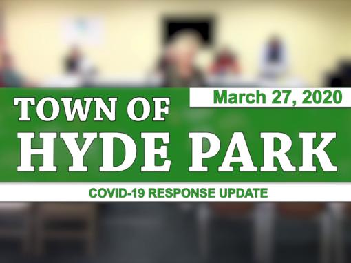Hyde Park COVID-19 Response Update #1, 3/27/20