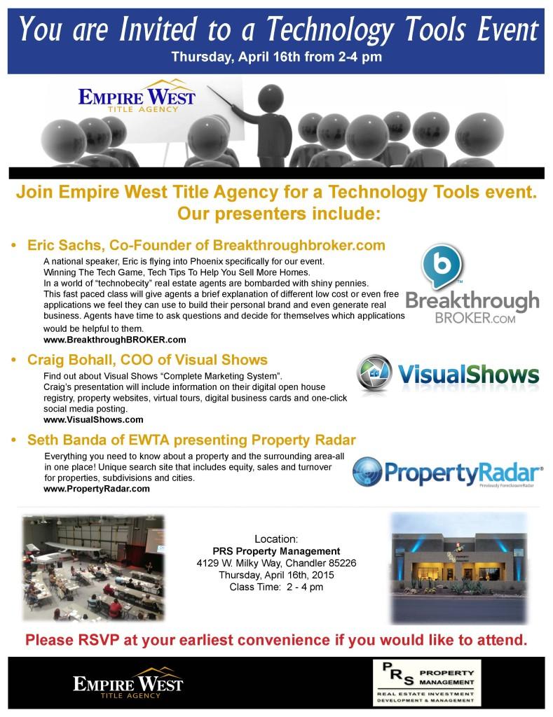 MKTF - Technology Tools Event - April 16th