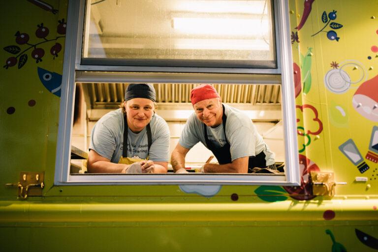 Dan and Silvia in the food truck