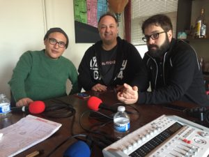 Guest Jeff Zamaria with George Chen and Paco Romane
