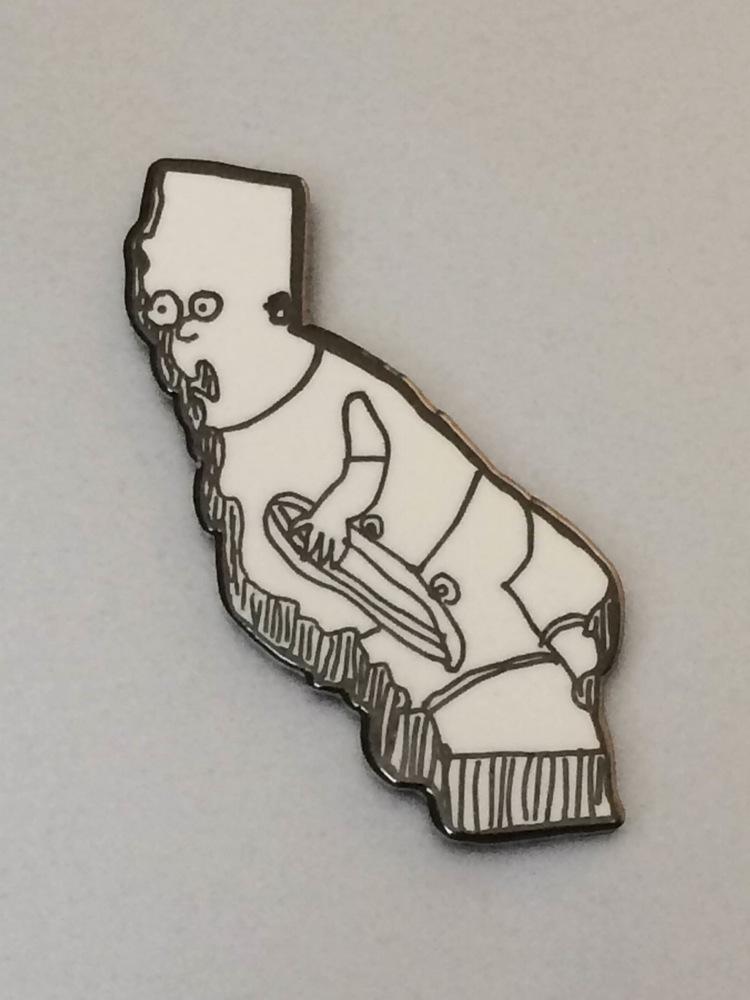 California Bart enamel pin