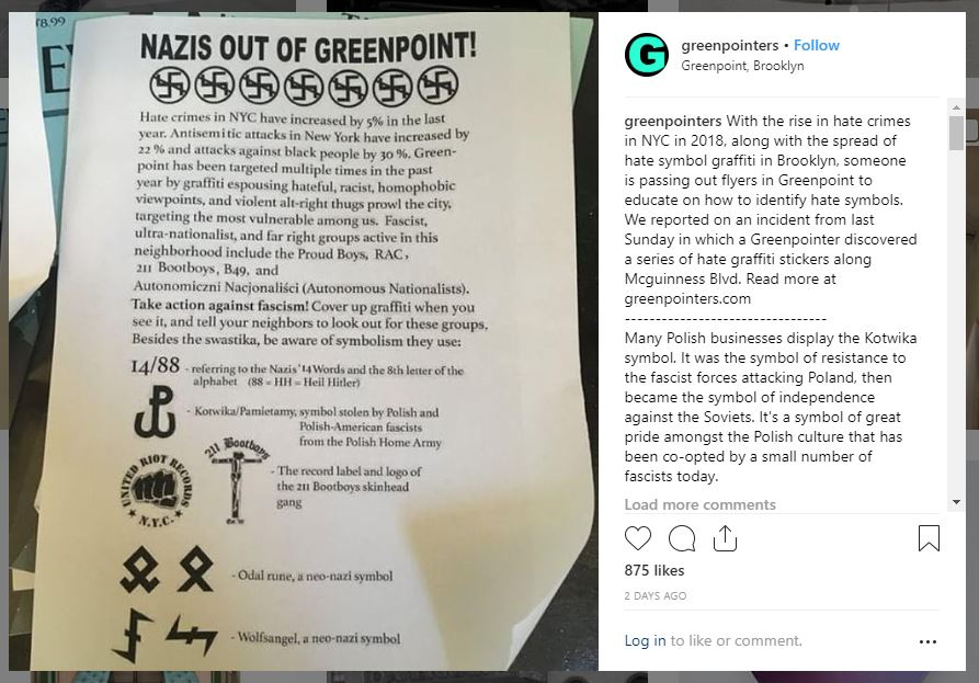 Fight against Nazis in Greenpoint: Polish KOTWICA is the symbol of