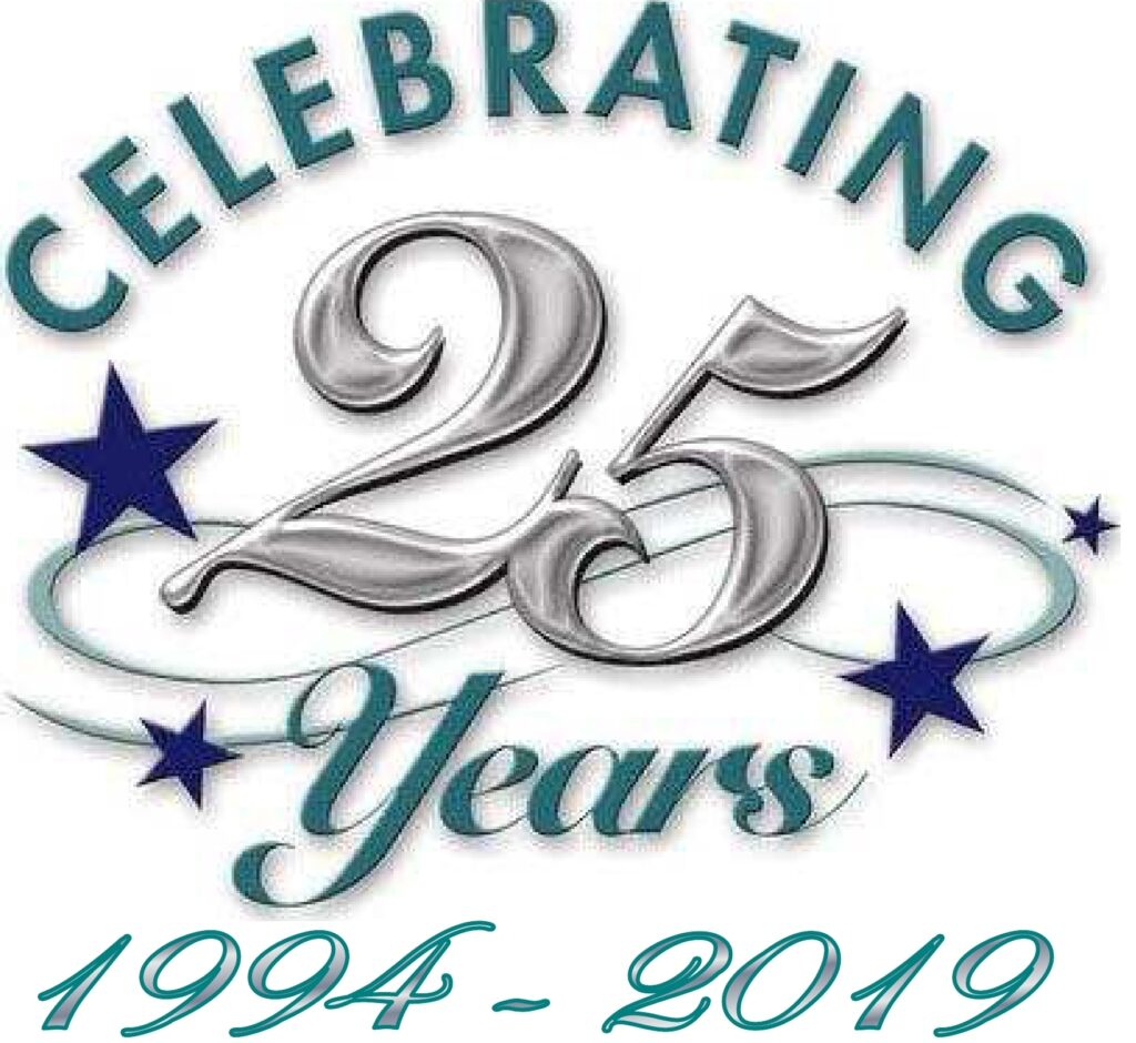 Celebrating 25 Years in Business in 2019