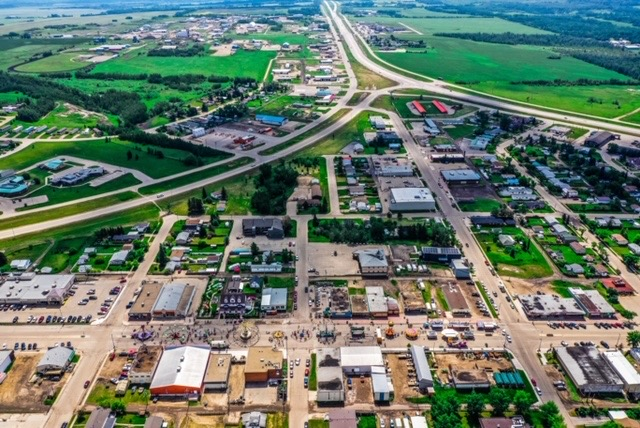 Valleyview aerial photos taken by Ken Wittig owner of Star Energy Logistics LTD Street Fair June  2019
