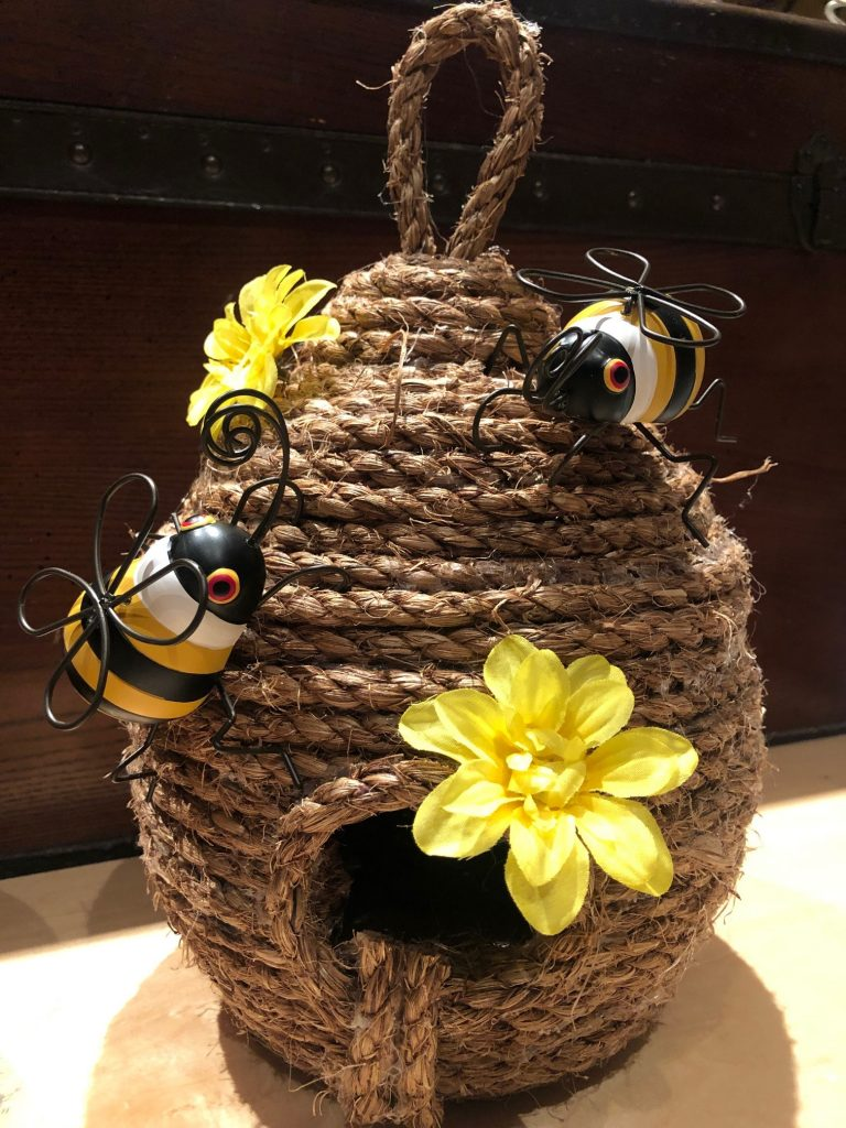 Beehive made out of rope. Farmhouse style must have #beehive diy #falldecor #falldiy