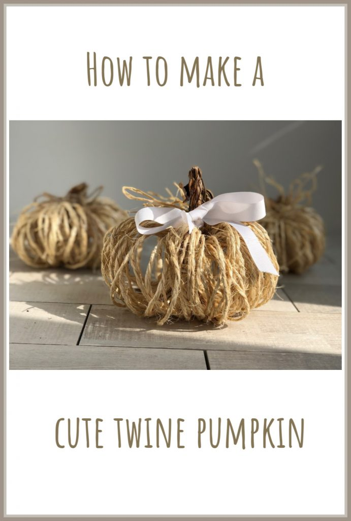 Cute rustic twine pumpkin is the one you to decorate your house with this fall! Super easy directions to follow.