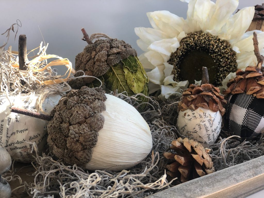 Turn your easter eggs into fall decor! Learn how to make pine cones. Easy DIY