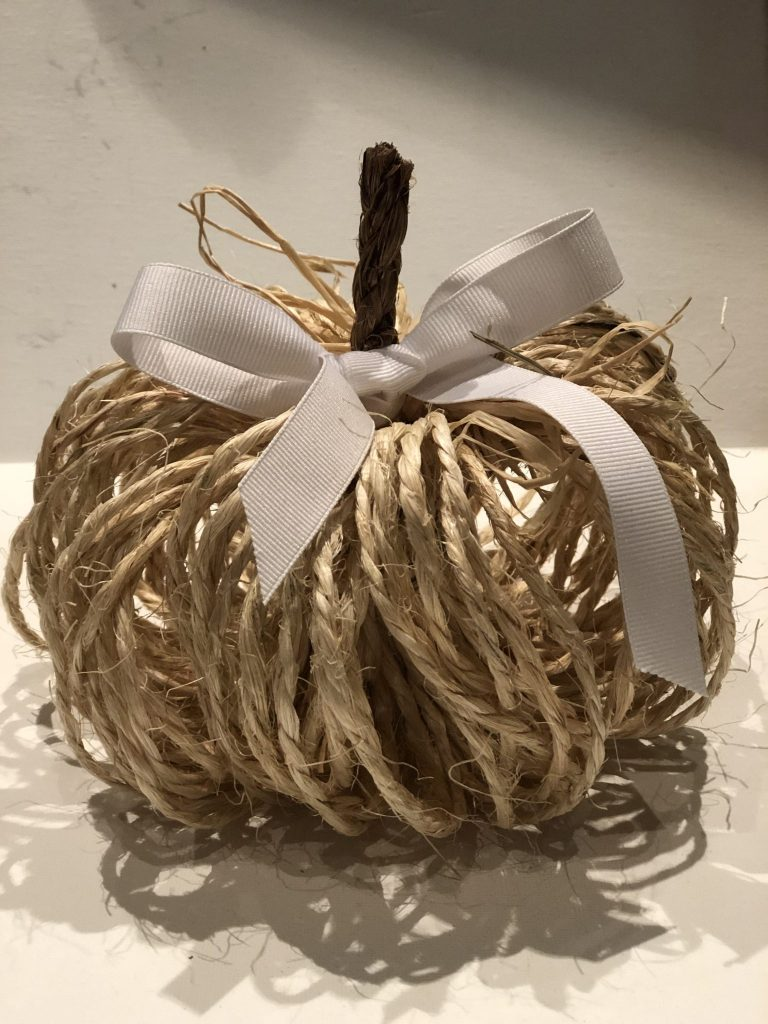 Fall decorations at its best! Cute rustic twine pumpkin is the one you to decorate your house with this fall! Super easy directions to follow.