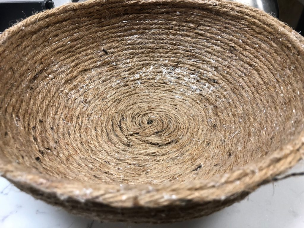 Easy to make DIY rope bowl is the perfect quick craft. Perfect accessory to display your fall treasures, serve a bread at dinner table