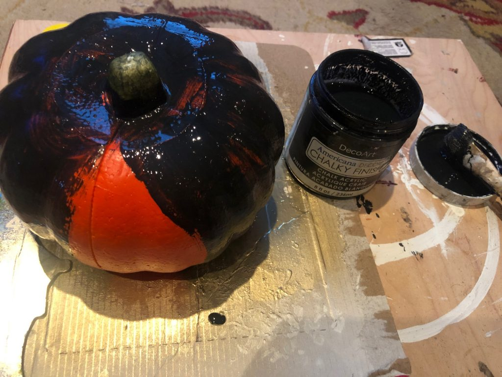 Another DIY pumpkin coming your way today! No carve pumpkin.  This one is going to be a the perfect mix of sweet & spooky! That is my way I like to decorate for Halloween!