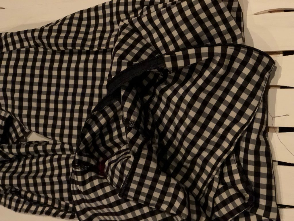 Buffalo check fabric to make pumpkins. Fall decor