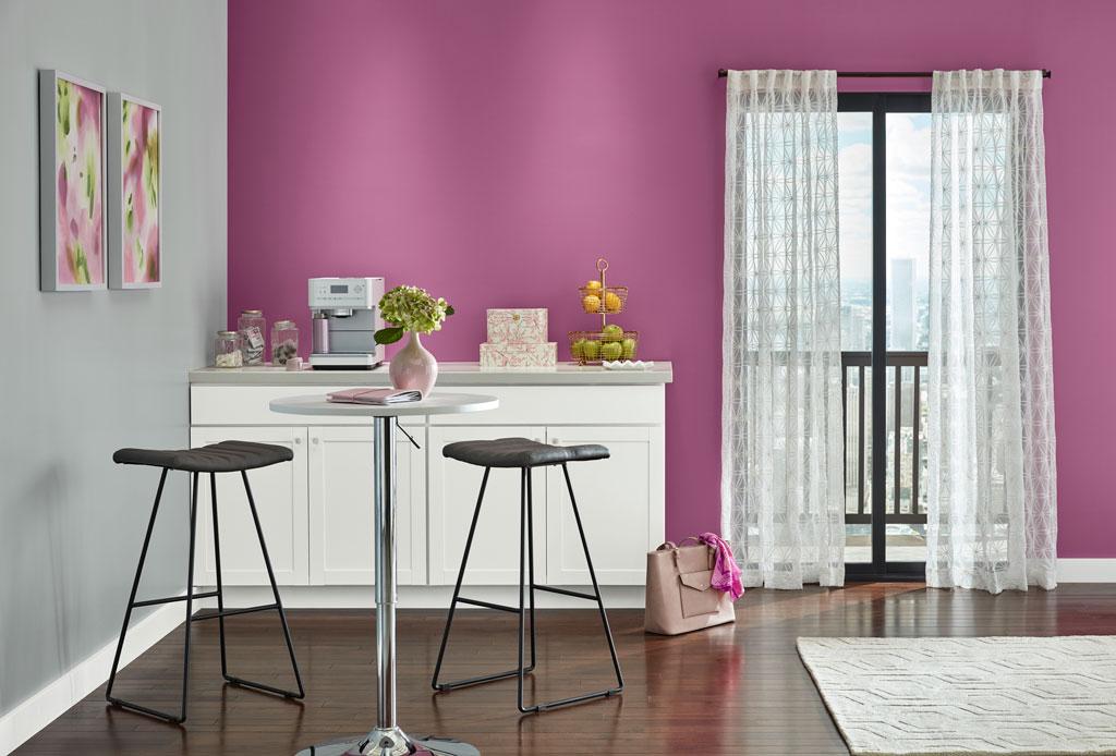 """""""A power pink that won't be denied."""" - Sue Kim, Valspar Sr. Color Designer"""