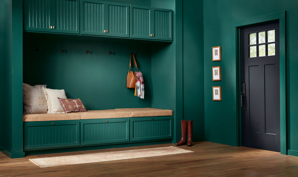 """""""This intriguing green is intense and invigorating, with a touch of blue to keep it refreshing."""" - Sue Kim, Valspar Sr. Color Designer"""