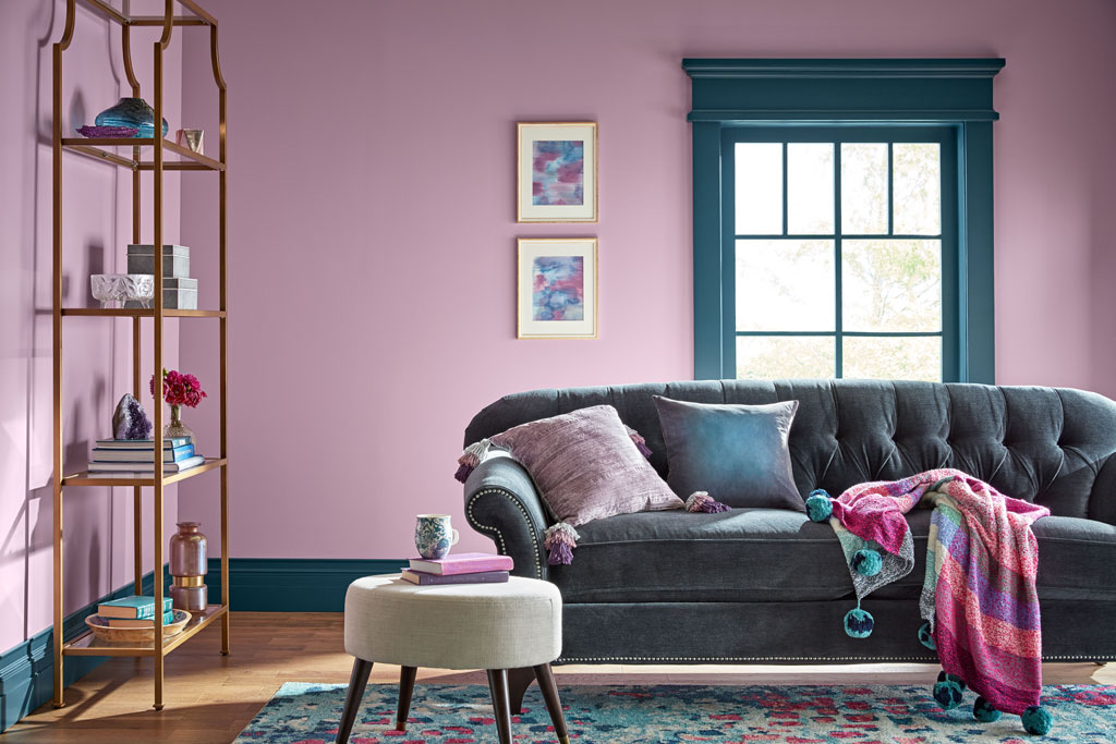 """""""This dusted-gray lilac brings a calm, quiet, almost-spiritual strength to light colors … and softens moodier darks."""" - Sue Kim, Valspar Sr. Color Designer"""