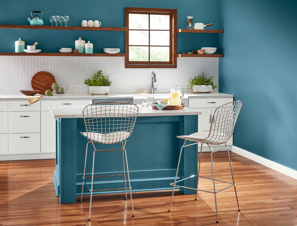 """""""Nostalgic, versatile blue-green is both warm and cool, making it an easy companion to a range of other colors."""" - Sue Kim, Valspar Sr. Color Designer"""