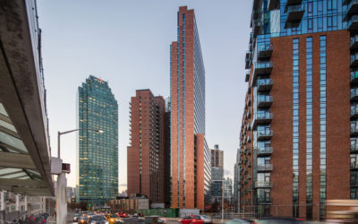 New York's The Forge showcases distinctive, copper anodized, aluminum wall panel system