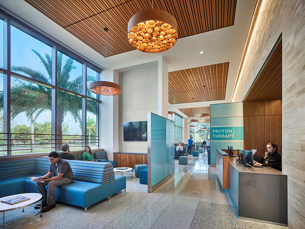Baptist Health South Florida's Proton Therapy Center in Miami, Florida. Photo credit: Halkin Mason