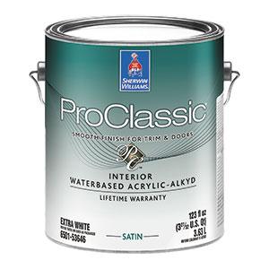 Sherwin-Williams ProClassic Interior Waterbased Acrylic-Alkyd Enamel