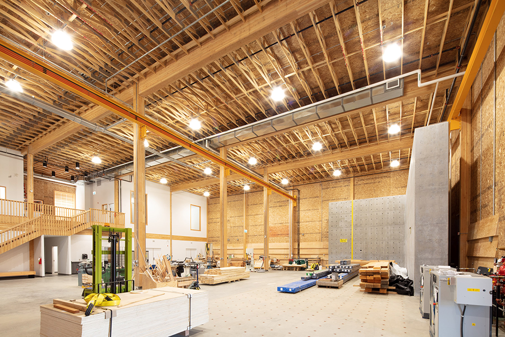 Wood Innovation Research Laboratory, University of Northern British Columbia. Photo courtesy of Stantec