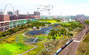ASLA 2019 Professional Analysis and Planning Honor Award. +StL: Growing an Urban Mosaic, TLS Landscape Architecture, Shanghai OBJECT TERRITORIES, and [dhd] derek hoeferlin design | Photo credit: TLS | OT | dhd