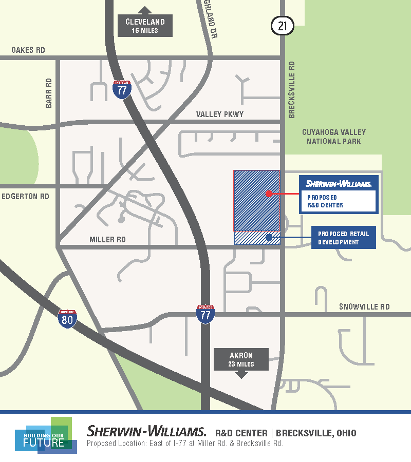 Sherwin-Williams Plans to build new R&D center in Brecksville