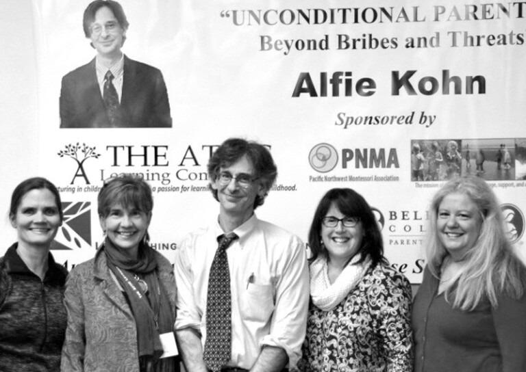 Attic founders with Alfie Kohn