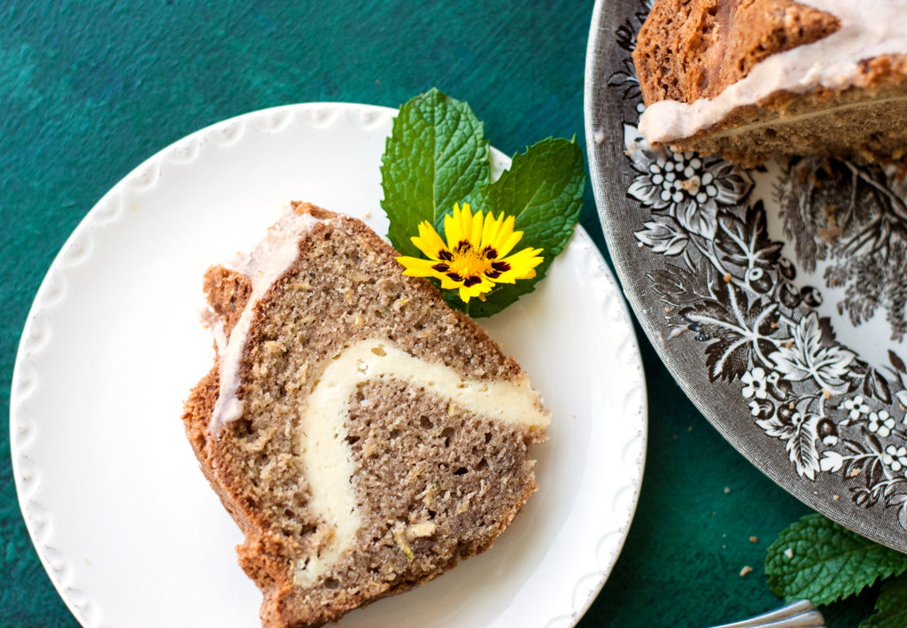 Zucchini Cream Cheese Bundt Cake