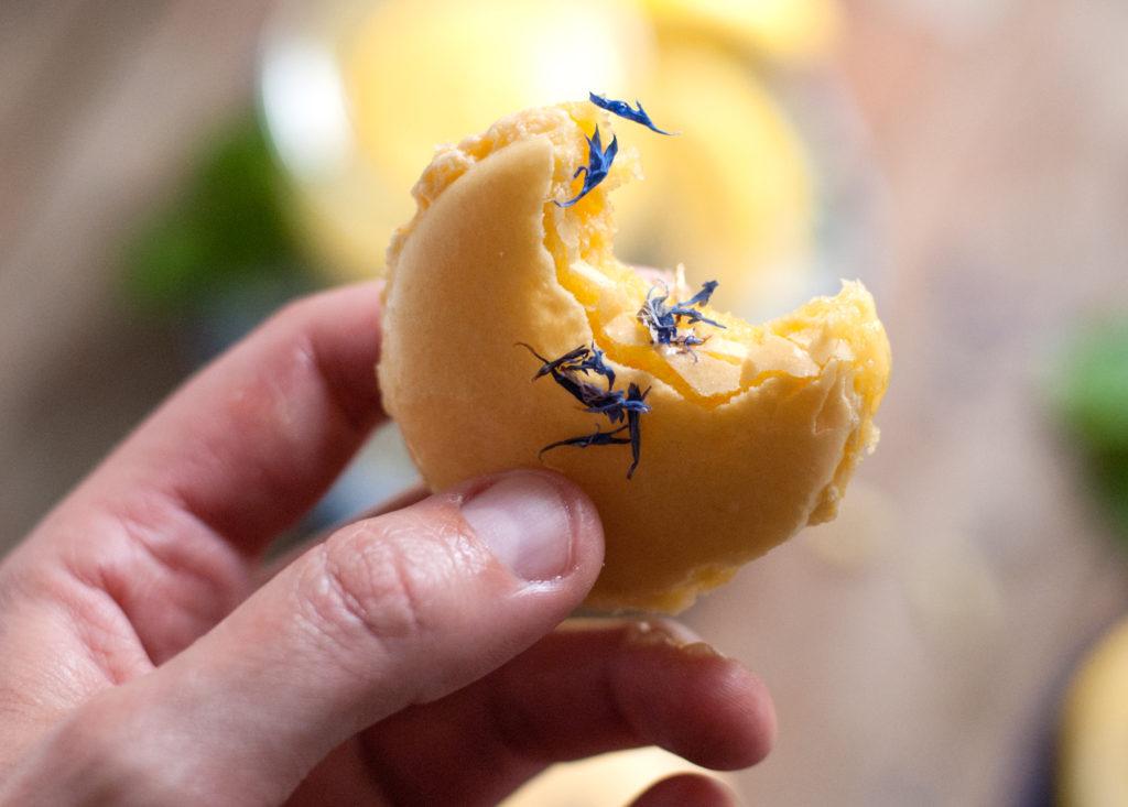 Blue Cornflower Macarons