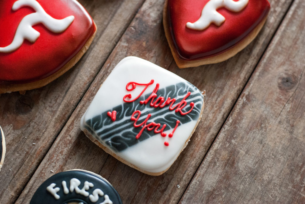 Firestone Tire Cookies