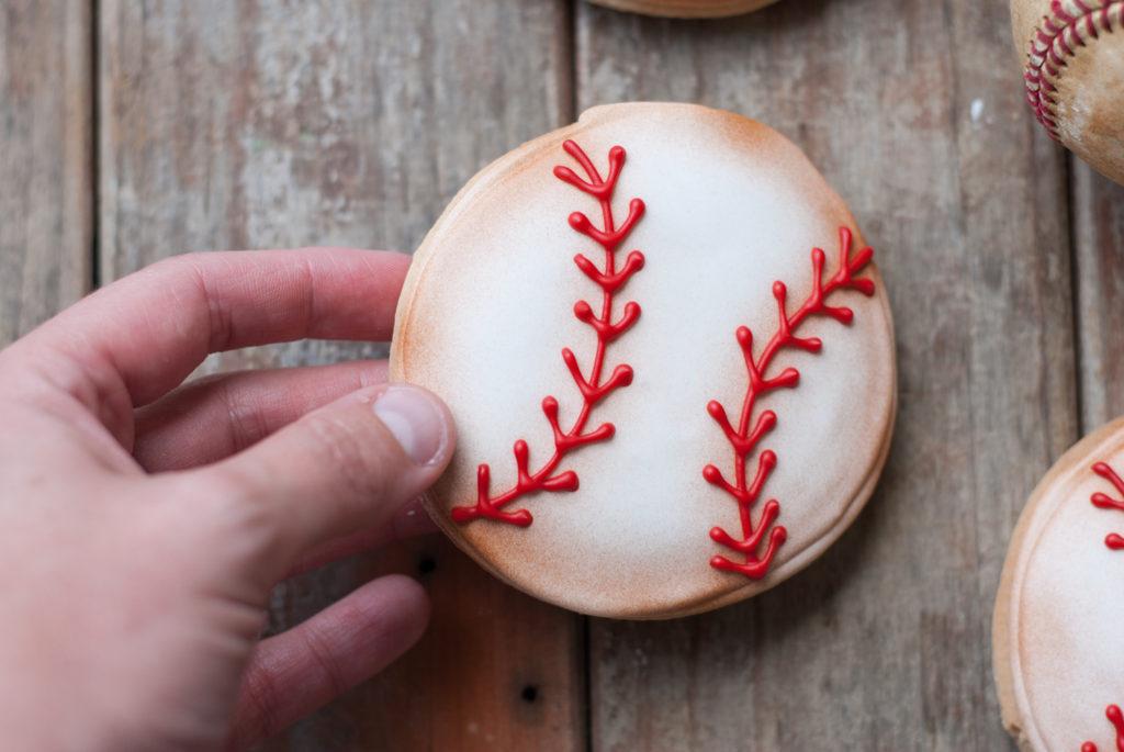Baseball Sugar Cookies