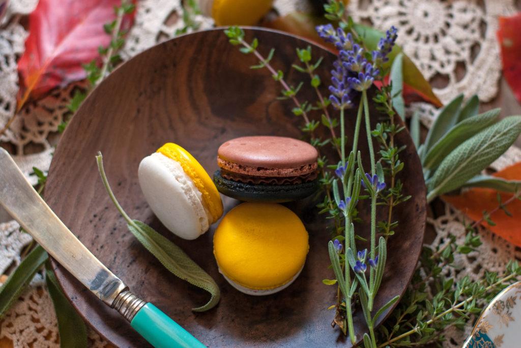 Chocolate Pumpkin French Macarons