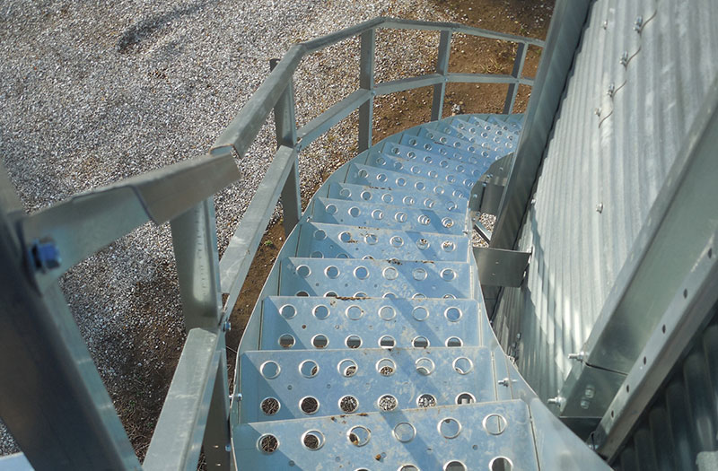 Bin Stairs For Grain Access