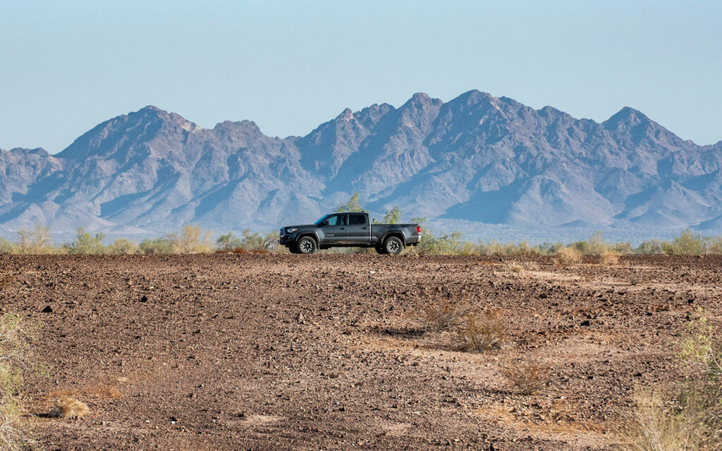 The trusty desert dirt devil expands the boundaries of exploration.