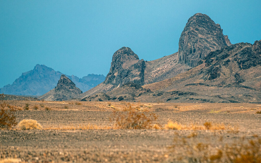 Twin Buttes in the Palo Verde Mountains Wilderness Area