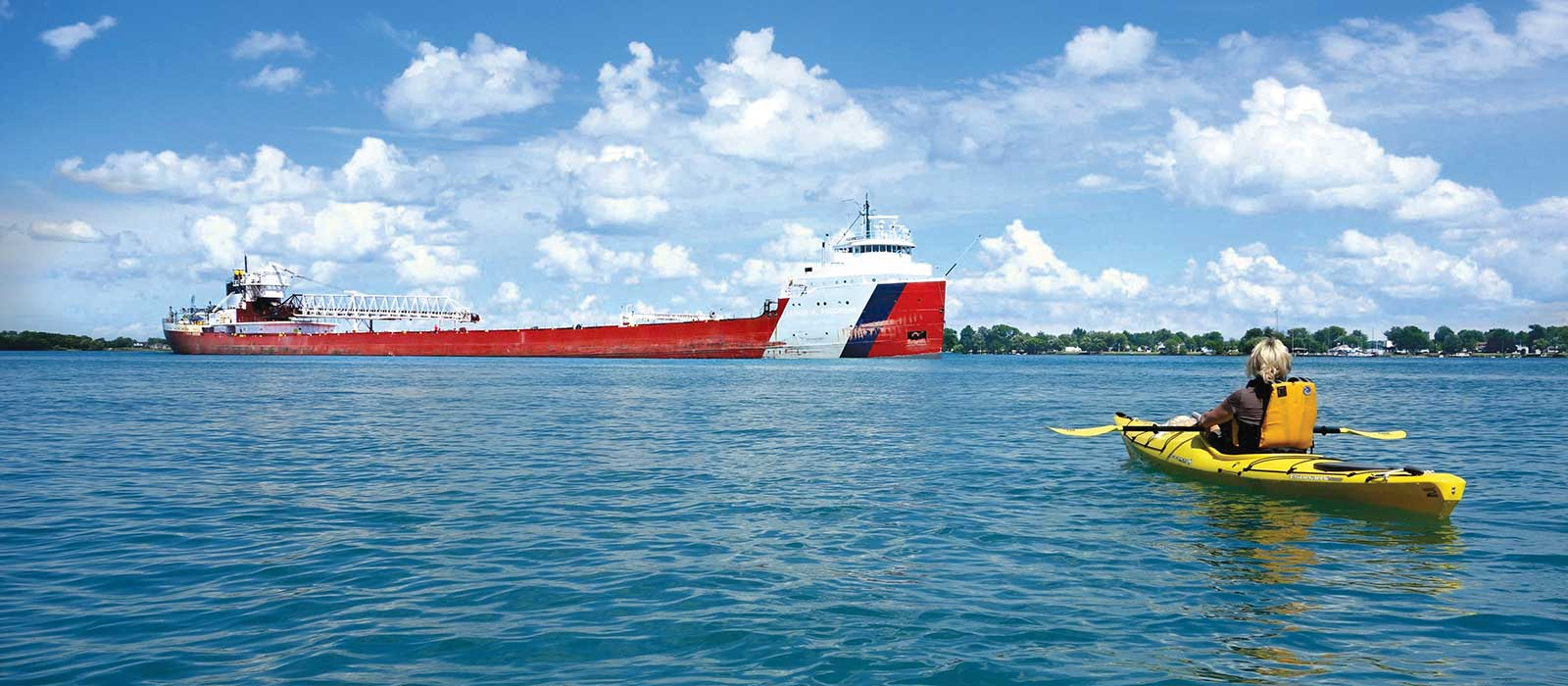 Kayaking on St. Clair River